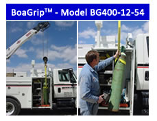 BoaGrip™ Model BG400-12 rigging sling for lifting gas cylinders into service trucks