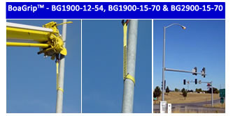 BoaGrip™ Model BG1900 – BG1900-12 rigging sling for lifting tapered utility poles